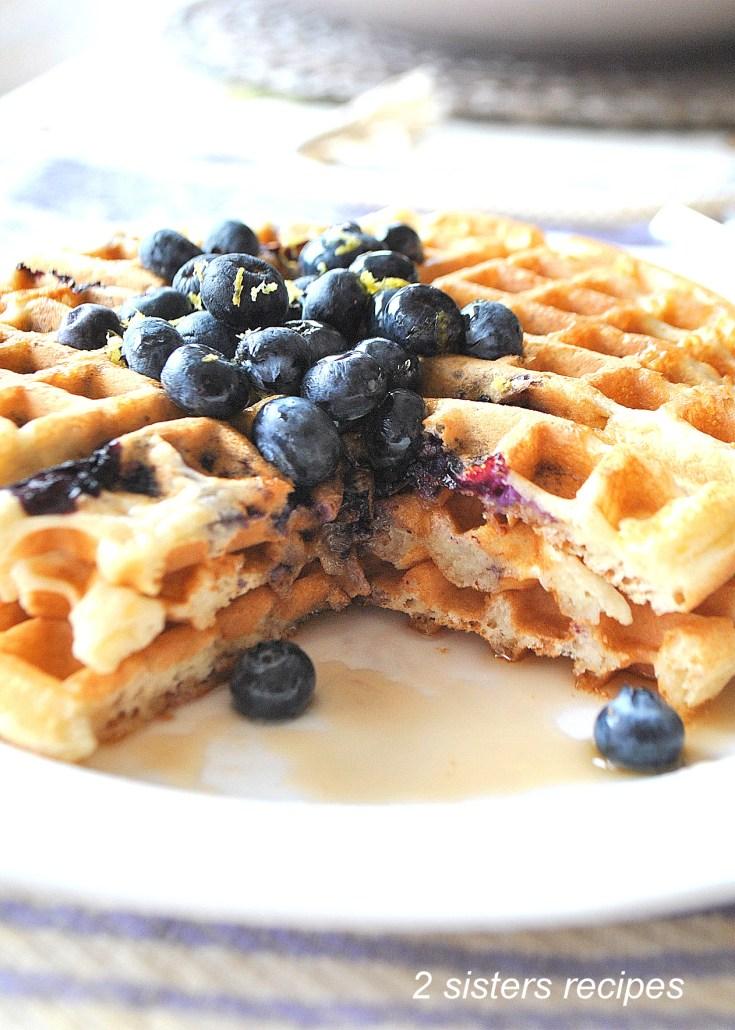 Light & Fluffy Lemon Blueberry Waffles
