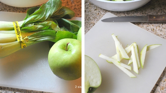 Healthy Apple Bok Choy Salad by 2sistersrecipes.com