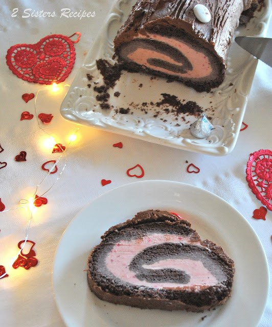 Dark Chocolate & Strawberry Ice Cream Roll Recipe