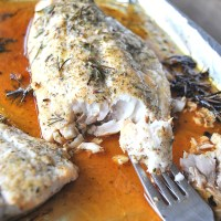 Roasted Red Snapper Italian Style!