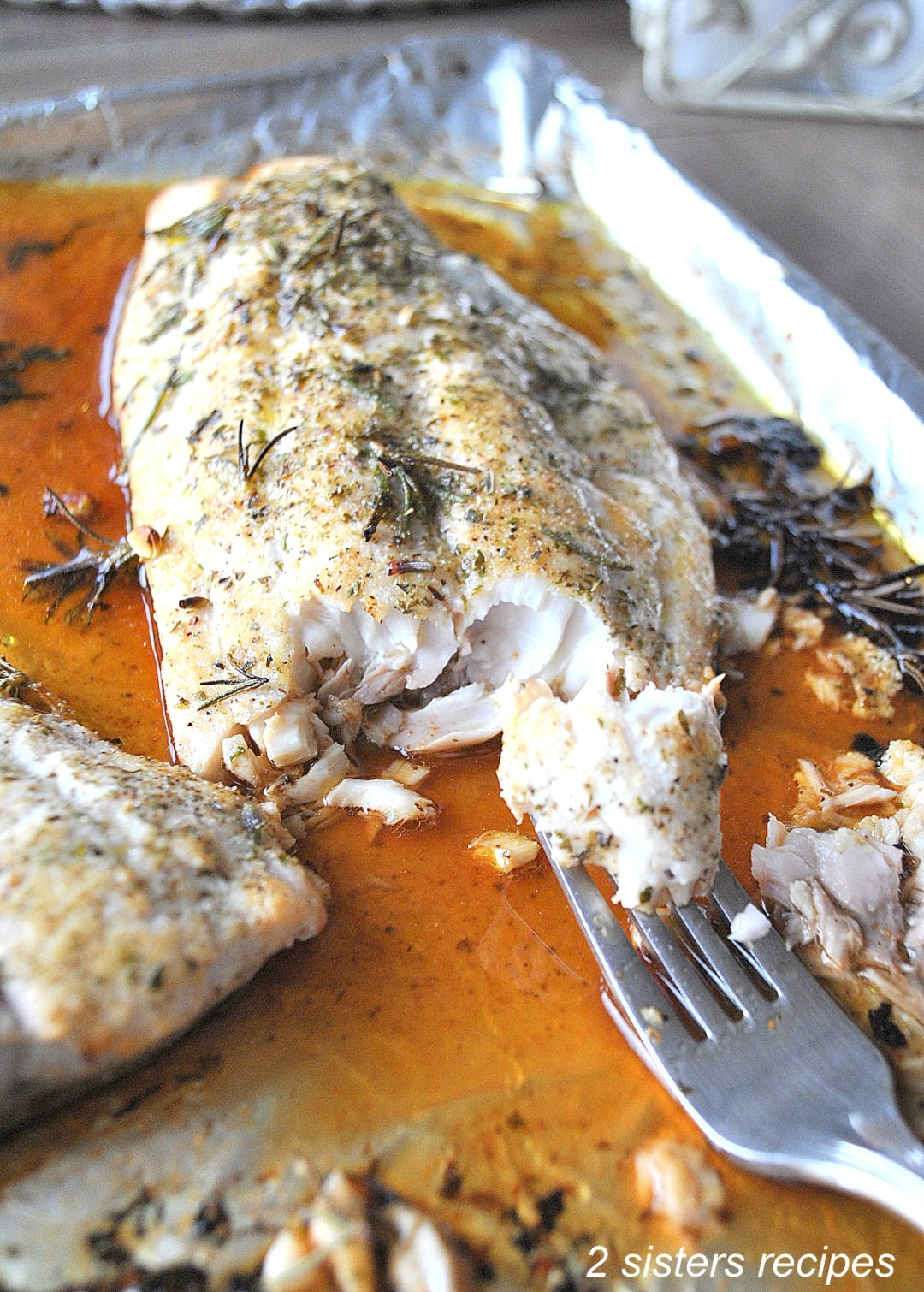 Roasted Red Snapper Italian Style! by 2sistersrecipes.com