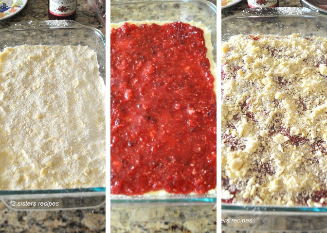 Raspberry Lemon Crumble Bars by 2sistersrecipes.com