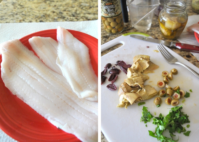 Dover Sole Livornese by 2sistersrecipes.com