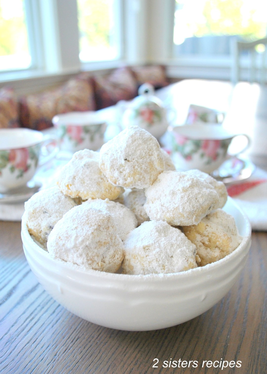 Coconut Cherry Shortbread Cookies by 2sistersrecipes.com