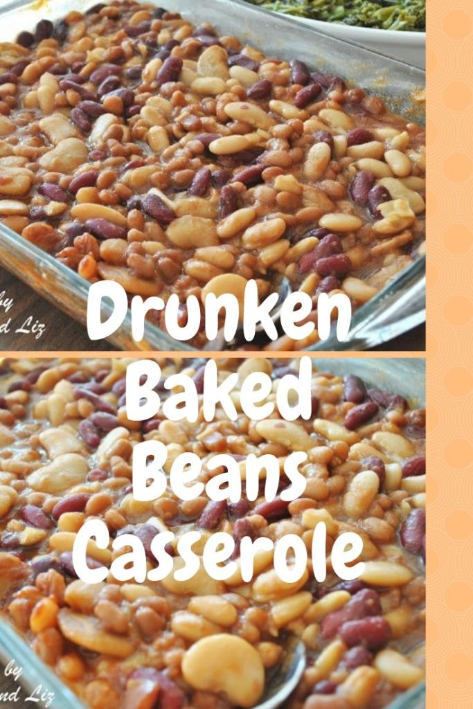 Drunken Baked Beans Casserole by 2sistersrecipes.com