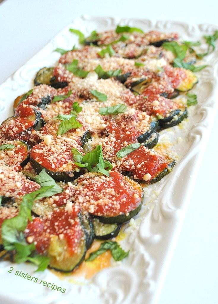Roasted Zucchini Parmesan - Lightened!