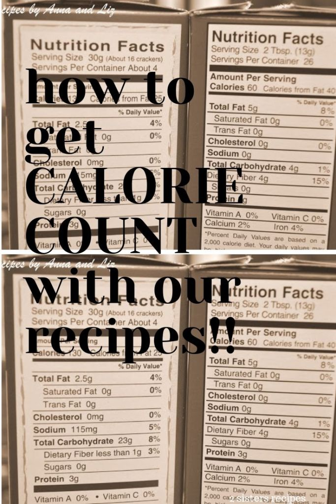 How To get Calorie Count with Our Recipes by 2sistersrecipes.com