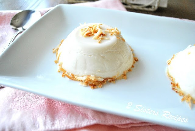 No Bake Dairy-free Vanilla Toasted Almond Panna Cotta