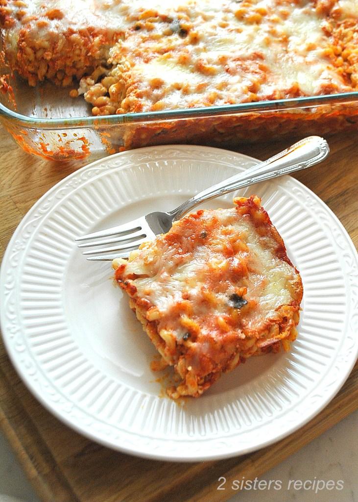 Easy Baked Long Fusilli Casserole by 2sistersrecipes.com