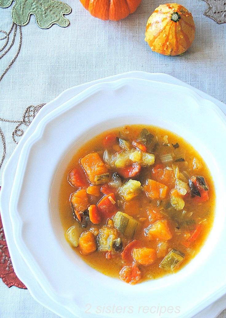 Healthy Butternut Squash Zucchini Soup