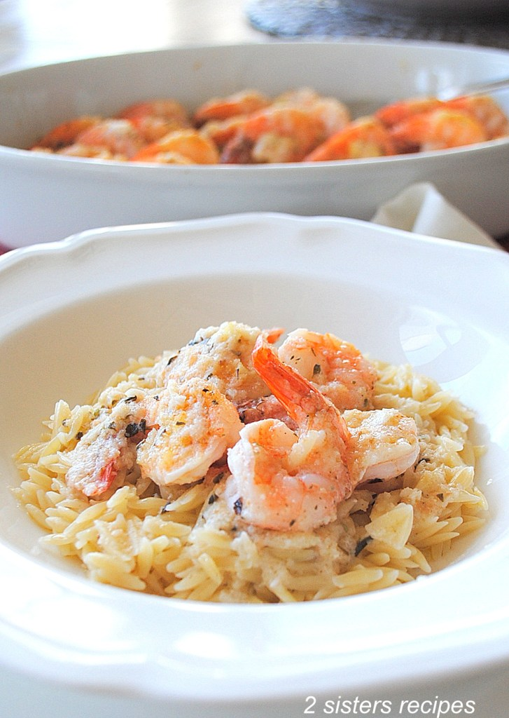 Easy Baked Shrimp Scampi Dinner by 2sistersrecipes.com