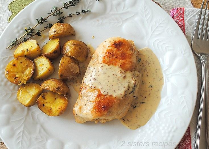 Chicken with Dijon Wine Cream Sauce