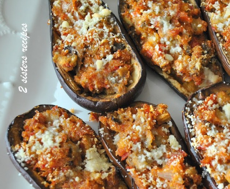 Easy Stuffed Mini Eggplants by 2sistersrecipes.com