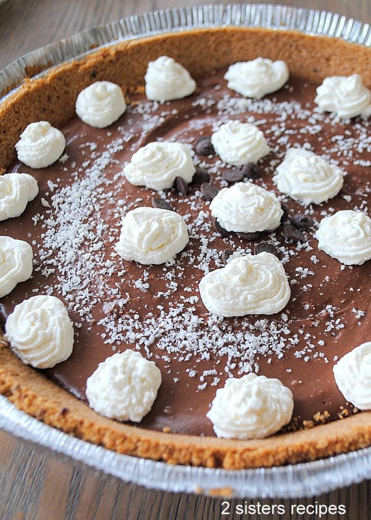 Silky Chocolate Cream Pie by 2sisterserecipes.com