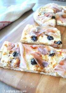 White Pizza with Dried Cherries by 2sistersrecipes.com