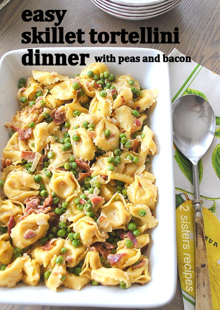 Easy Skillet Tortellini Dinner by 2sistesrecipes.com