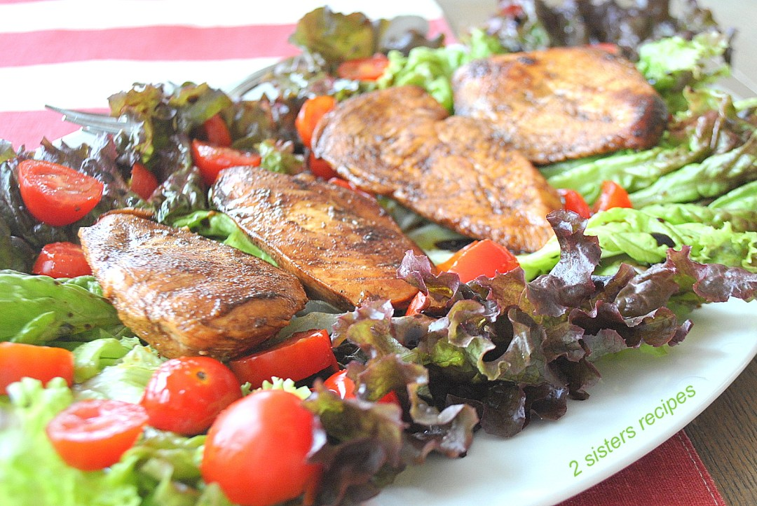 Grilled Balsamic Chicken Salad by 2sistersrecipes.com