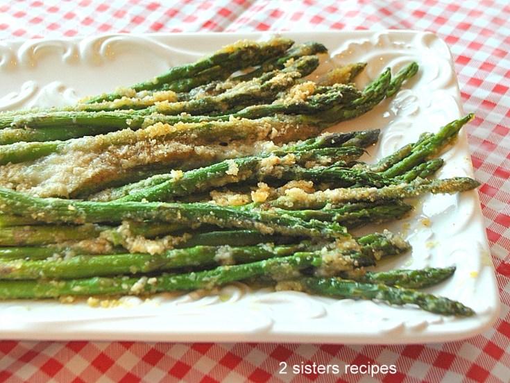 Asparagus Au Gratin- Lightened! by 2sistersrecipes.com