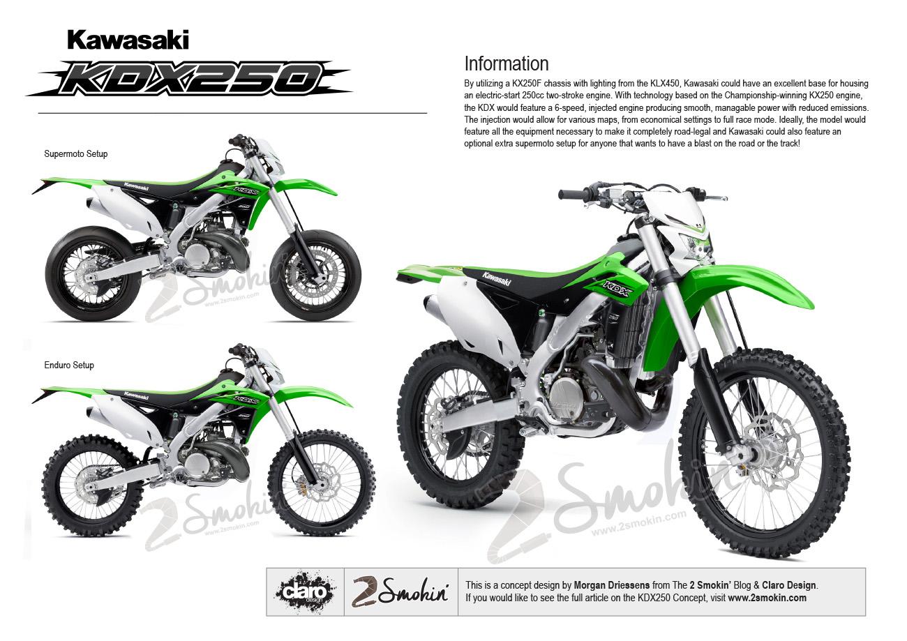 Kawasaki KDX250 Injected Concept | 2 Smokin'