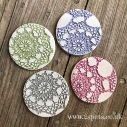 Lace print coasters