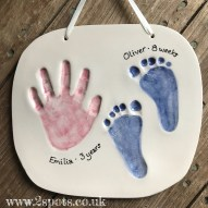 Brother and Sister hand and footprints