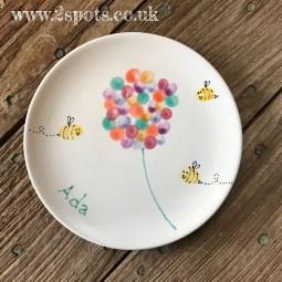 Fingerprint Flower Plate