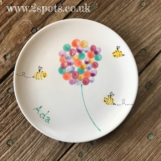 Fingerprint Flower Plate