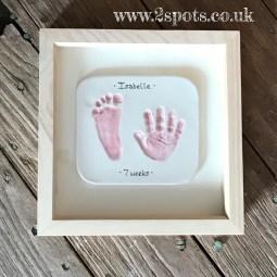 Imprint Pink in Natural Wood Frame