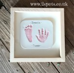 Imprint Pink in Natural Wood Frame