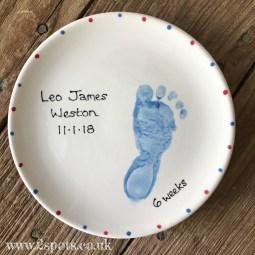 Keepsake Plate Blue