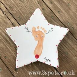 Reindeer Star Plate