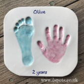 Toddler Imprint Pink and Turquoise