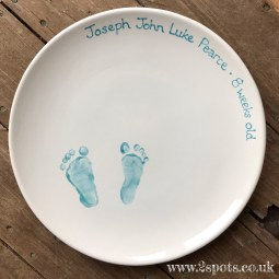 Baby Print Platter in turquoise