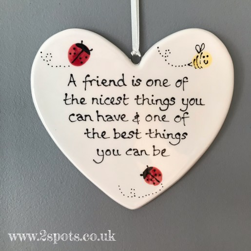 Friend Quote Heart with toeprint creatures