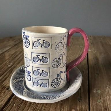 Bicycle Mug and saucer