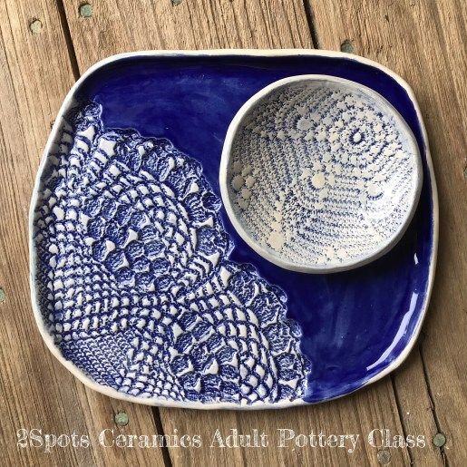Textured dish and bowl