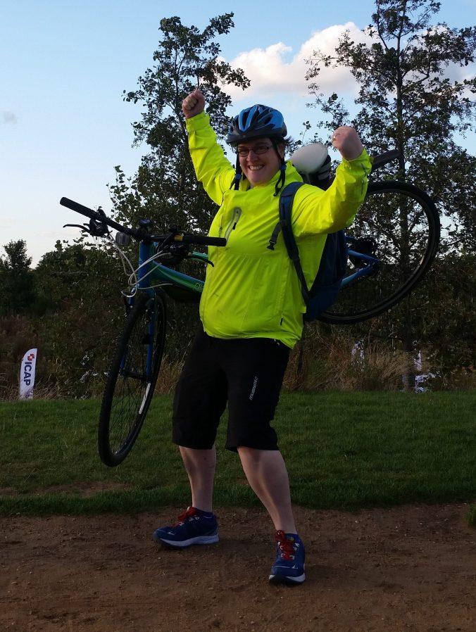 Helen and her bike