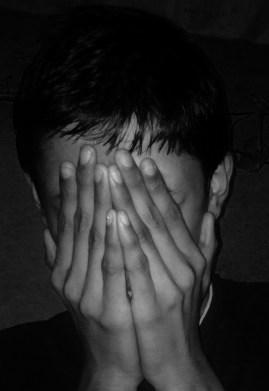 hidden face_b&w