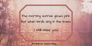 micropoem on pink background - I still miss you