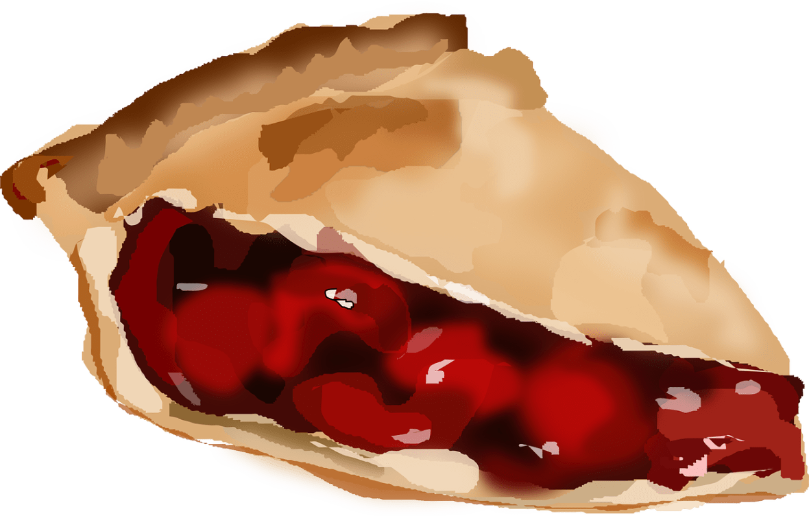 Illustration of a slice of cherry pie