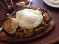 Our last breakfast in Texas at 105 Cafè in Conroe. This is the Cowboy Skillet. Yummy!