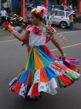 This young girl was twirling and dancing and just having fun :)
