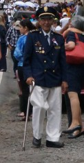 I assume that this gentleman is a former Panamanian military man. There hasn't been a military since 1989. There are currently armed Police and Security forces.