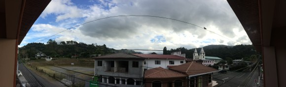 This is a panoramic pic of the view from our balcony. We are pretty much facing north towards the Caribbean. At times we have amazing storms with lots of lightning and thunder. It's so cool to sit on the balcony and watch.