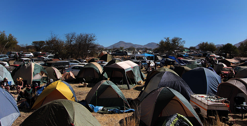 Tents at OppiKoppi, as far as the eye can see.