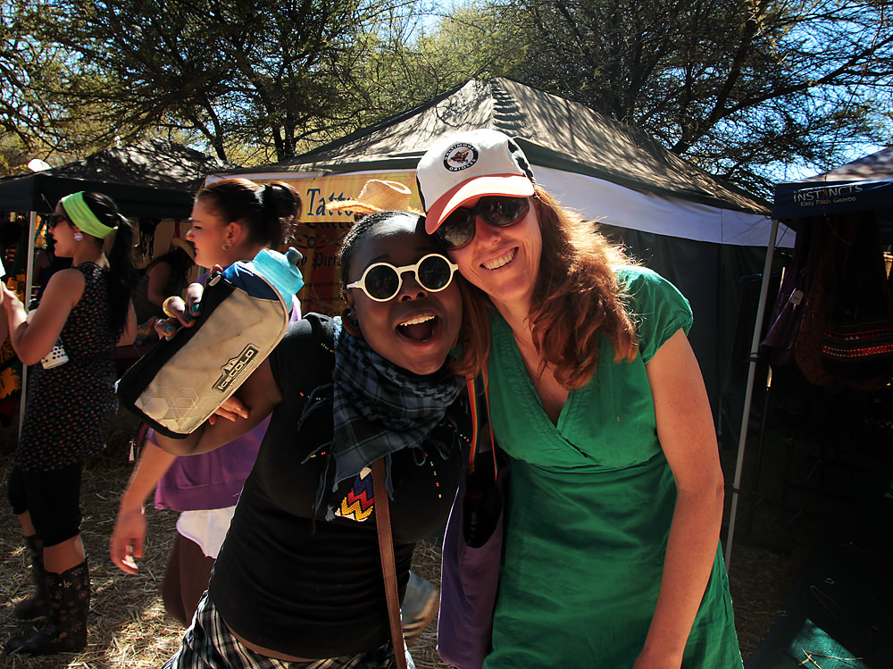 Lungi and Ruth at OppiKoppi