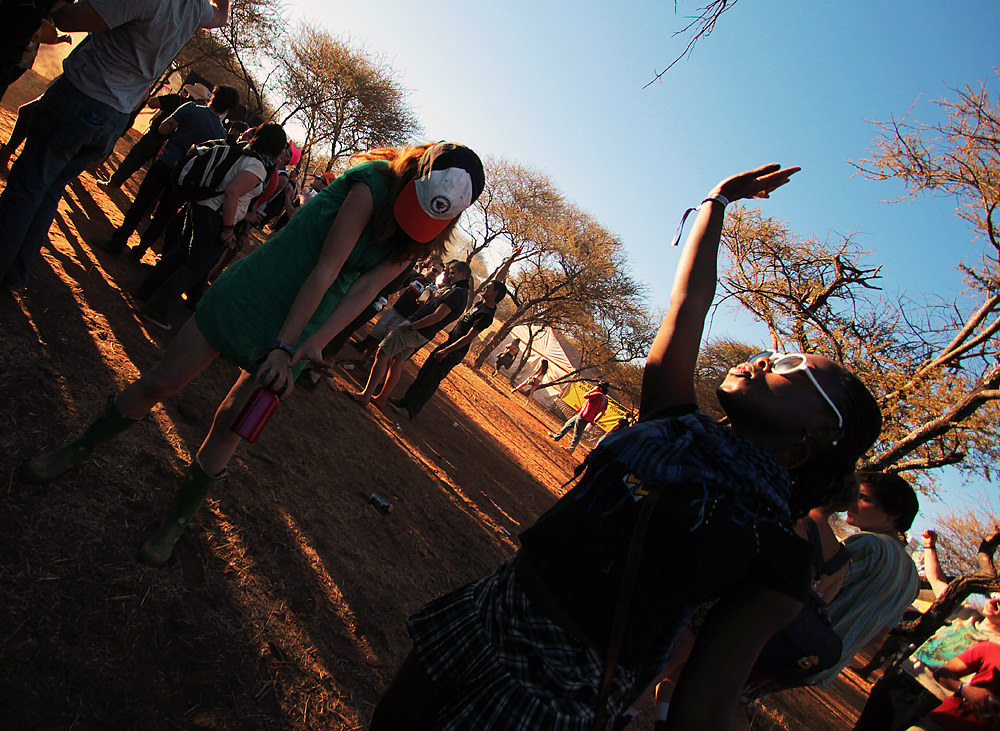 Dancing at OppiKoppi.
