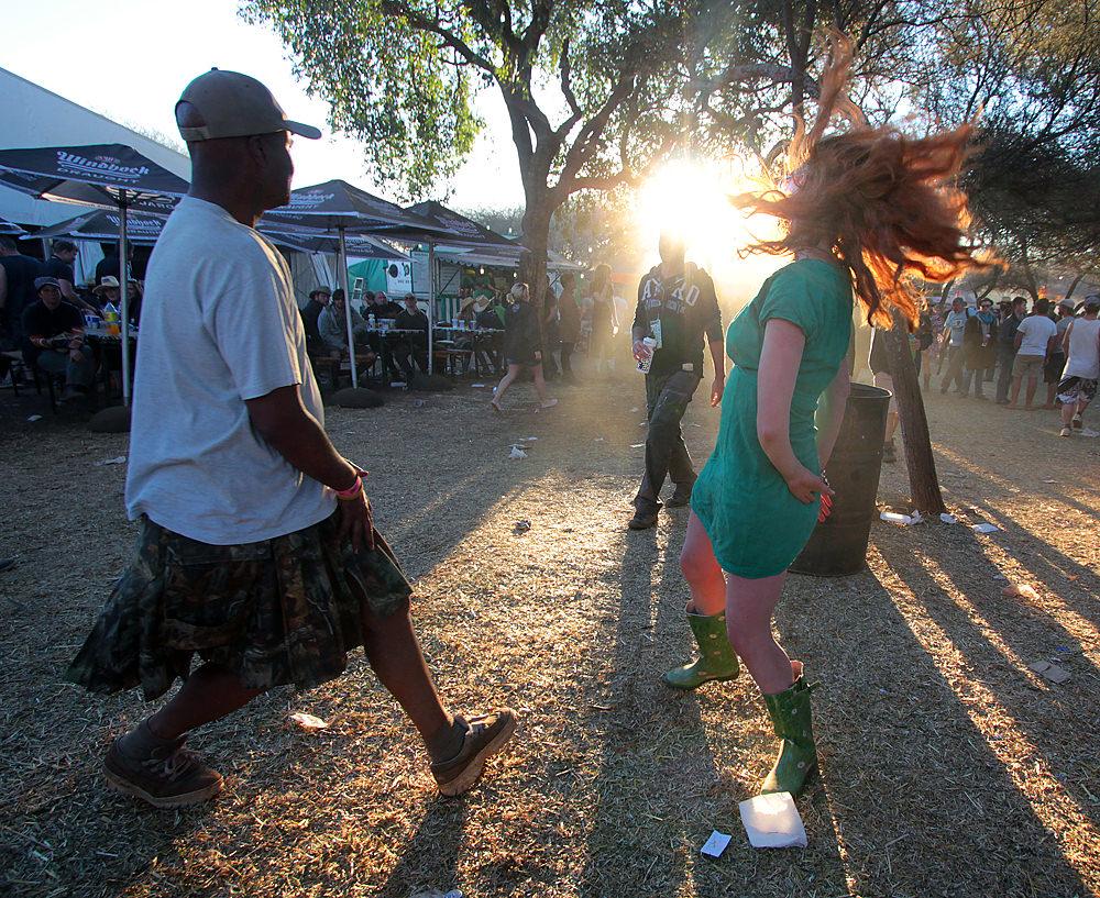 Dancing at OppiKoppi.