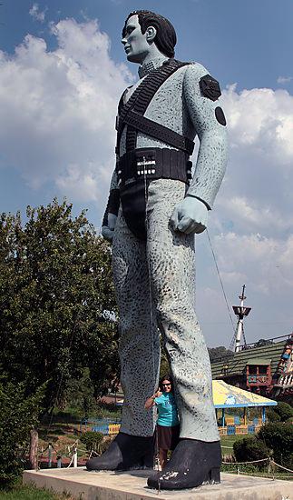 Michael Jackson statue at Santarama Miniland