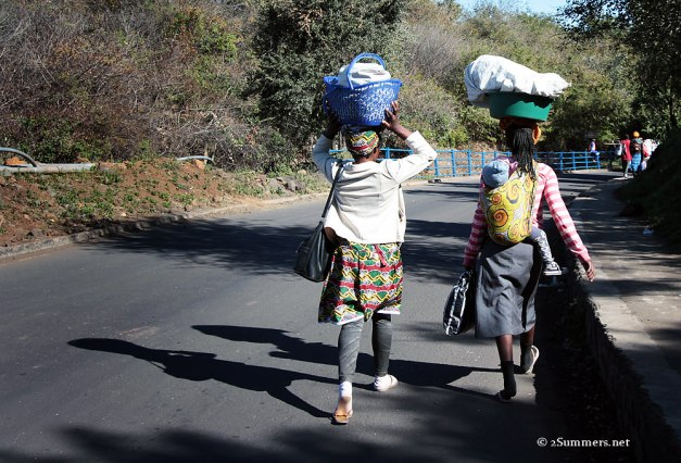 Ladies crossing border